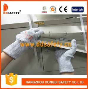 Ddsafety 2017 13G Hppe and Spandex Knitted Anti Cut Work Gloves pictures & photos