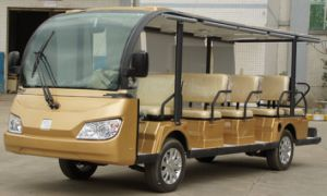 New Model Cheap 14 Seaters Electric Tourist Car China pictures & photos