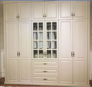 Customized European Style PVC Vavumn Wardrobe Closet (MOQ= 1 SET) pictures & photos