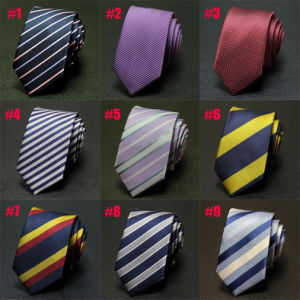 Woven Neck and Bow Tie 100% Polyester Check Ties (A016) pictures & photos