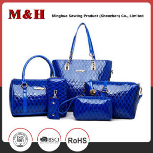 Promotion Large Capacity Handbag Leisure Ladies Bag Set with 6 PCS pictures & photos