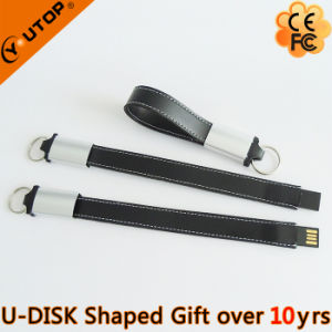 Hot Sales Gift Mini Leather USB Flash Drive (YT-5118) pictures & photos