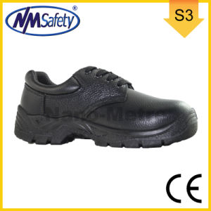 Nmsafety CE Approved Cow Split Leather Men Work Shoes pictures & photos