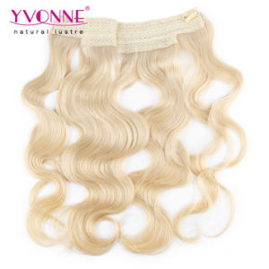 Blond Hair Extensions Flip in Human Hair pictures & photos