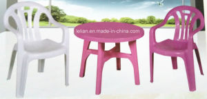 Outdoor Plastic Table and Chair Set (LL-CFT009) pictures & photos