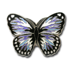 Customize Full Color Printing Butterfly Shape Metal Badge/Lapel Pin (QL-Hz-0035) pictures & photos