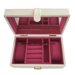 High Quality PU Leather Coated Wooden Gift Jewelry Box pictures & photos