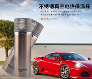 Heated Travel Car Auto Stainless Steel Thermos Coffee Tea Cup Mug Bottle