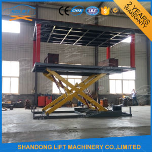 Hydraulic Scissor Car Lift Elevator 2 Deck with Ce pictures & photos