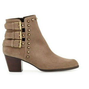 Studs and Buckles PU Women Ankle Boot