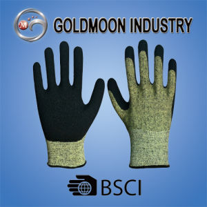 13G Kevlar Black Latex Cutting Resistance Level 5 Safety Work Glove pictures & photos