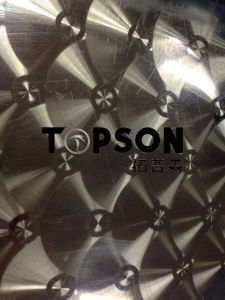 Stainless Steel Sheet Circular Brushed Finish Decorative pictures & photos