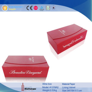 Magnetic Design High Quality Custom Red Wine Box (1378) pictures & photos