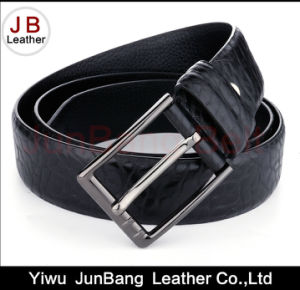 Hot Selling Custom Embossed Men Genuine Leather Belts pictures & photos