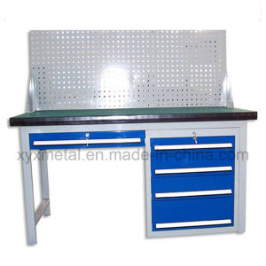 Heavy Duty Steel Workbench Work Table with Tools Cabinet and Pegboard pictures & photos