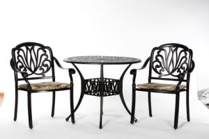 Leisurely Garden 3PC Dining Aluminum Furniture with Cushion pictures & photos