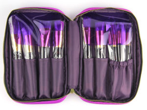 15PCS Purple Cosmetic Tool High Quality Natural Hair Makeup Brushes pictures & photos