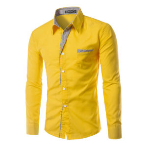 Long Sleeve Stylish Dress Shirts with Chest Pocket (A448) pictures & photos