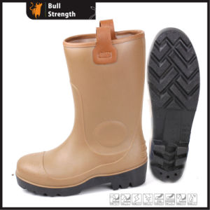 PVC Brown Color Safety Rain Boot with Steel Toe (SN5123) pictures & photos