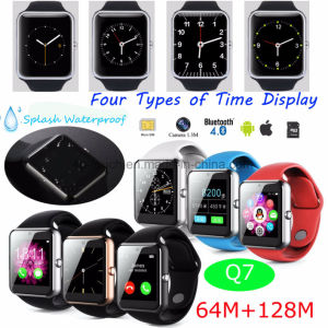Bluetooth Smart Watch Phone with Touch Screen and SIM Card Slot Q7 pictures & photos