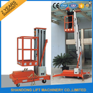Hydraulic Vertical Aluminium Indoor Lift Table for Hotel Maintenance pictures & photos