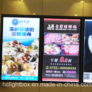 Restaurant Wall Mounted Acrylic Magnetic Frame Menu Board Light Box pictures & photos