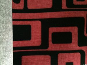 Red and Black Woven Linen Fabric for Sofa and Furniture pictures & photos