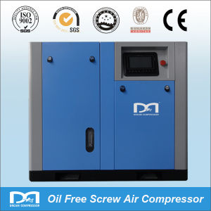Electric Oil-Less Oil Free Rotary Screw CNG CO2 O2 N2 Air Compressor pictures & photos