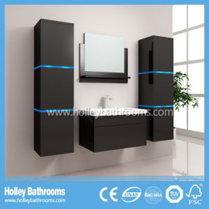 Hot LED Light Touch Switch High-Gloss Paint Bathroom Vanity Unit (B804D) pictures & photos