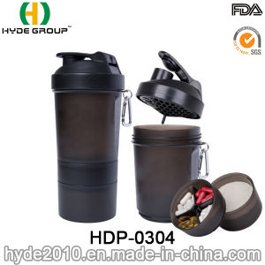 600ml High Quality BPA Free Plastic Protein Shaker Bottle (HDP-0304) pictures & photos