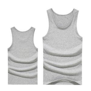 Hot Sale Low Price Knitting Cotton Rib Men Plain Singlet pictures & photos