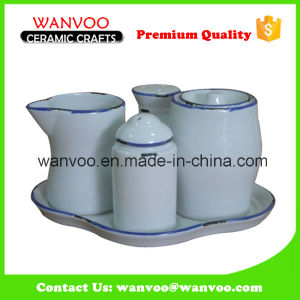 High Quality & Glazed Ceramic Olive Oil Soy Sauce Jar pictures & photos