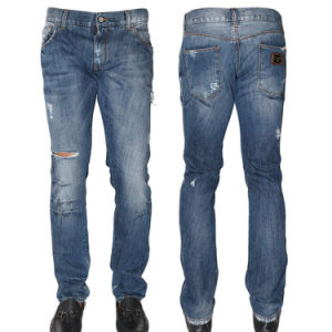 Factory High Quality Fashion Casual Cotton Men Jeans pictures & photos