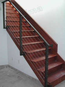 Stainless Steel Wire Balustrade / Steel Cable Railing for Stairs pictures & photos