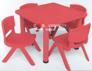 Colorful Children Furniture 8-Seater Kids Wooden Desk and Chair pictures & photos