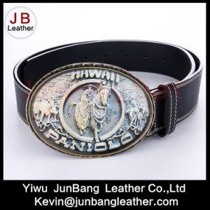 Latest Fashion Men PU Leather Belt with Big Buckle