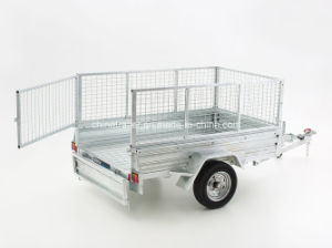 Small Galvanised Box Tipper Trailer with Cage pictures & photos