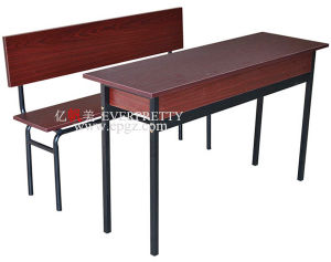 Wooden Double School Desk and Chair in Classroom Furniture pictures & photos
