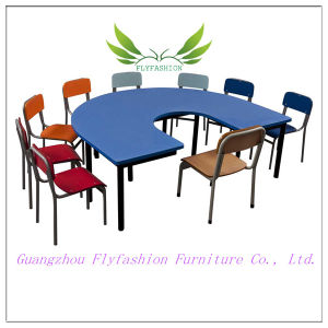 Height Adjustable U Shaped Kindergarten Table with Chairs pictures & photos