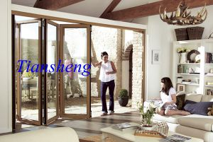 Balcony External with As2208 Double Glazing Glass Entrance Bi-Folding Door pictures & photos