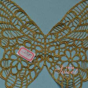 New Style Collar Lace Gold Thread for Women Cloth pictures & photos