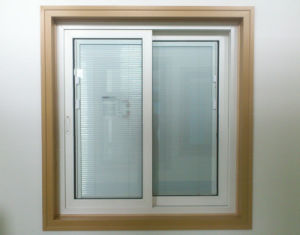 Conch 108 Inlaid Shutter Sliding PVC/UPVC Window pictures & photos