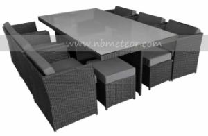 Wicker Patio Rattan Dining Set Garden Furniture 6 Seaters Cube Dining Set pictures & photos