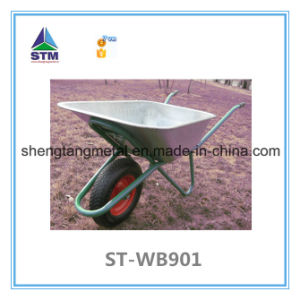 Galvanized Large Capacity Wheelbarrow with Two Wheels pictures & photos