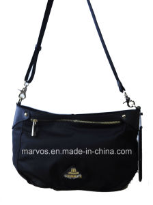 Fashion Nylon with Leather Handbag (BS13641)