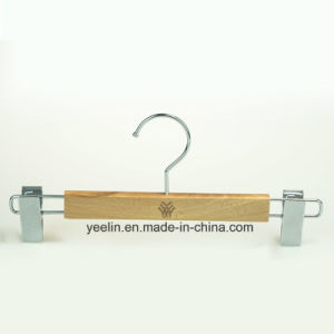 Wooden Pant / Skirt Hanger with Chrome Clips (YL-yw32) pictures & photos