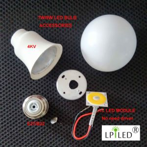 LED Bulb Accessories No Need Driver E27 B22 pictures & photos