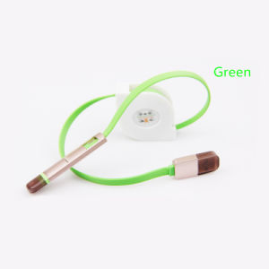 Colorful Lighting 2 In1 Retractable USB Cable for iPhone pictures & photos