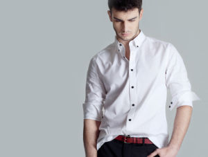 Fashion Stylish Long Sleeve Casual Shirt Made to Measure Men′s White Shirt pictures & photos
