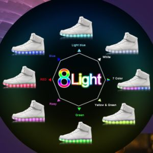 USB Charging LED Sport Shoes with Flashing Light pictures & photos